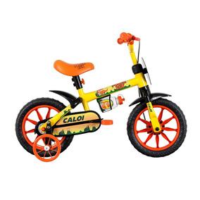 Bicicleta Caloi Power Rex Aro 12 Masculina Amarelo E Laranja