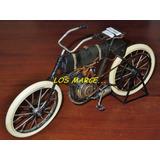 Bicicleta Moto Chapa Escala Adorno Retro Decoracion 3080