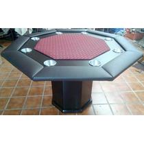 Mesa De Poker Octagonal Con Paño Y Base Profesional