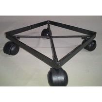 5 Suportes Móvel Quadrado Reforçado P Vaso 20x20 Rodas