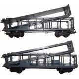 Trenes, Lote De 2 Vagones Porta Autos Lima Esc. Ho (1/87)