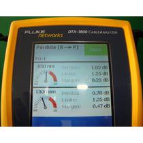 Conexión Y Escaneo De Fibra Óptica Con Fluke Dtx1800