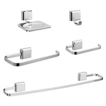 Kit De Acessório Para Banheiro 5 Aço Cromado Inox Super Top