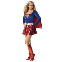 Disfraz Supergirl Super Chica Superman Traje Mujer Adulto