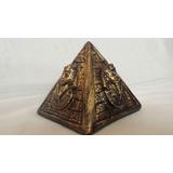 Pirâmide Egipcia Faraó Escultura Decoração Em Gesso