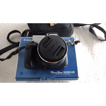 Camera Canon Sx50 Hs 50x Zoom + Bolsa +32gb Classe10