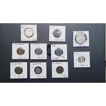 + Set De 10 Monedas Del Periodo 2ww. Nazi, Eu, Italia.