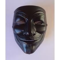 Máscara V De Vingança - Black Edition - Guy Fawkes Anonymus