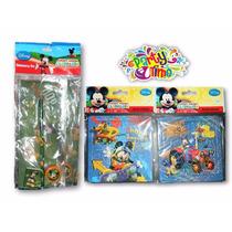 Combo Mickey Mouse-cartuchera/rompecabezas -rifas/cotillones