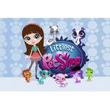 Painel Decorativo Festa Infantil Littlest Pet Shop (mod4)