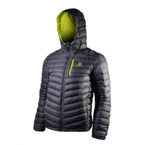 Campera De Pluma Salomon Halo Hooded Hombre Gris
