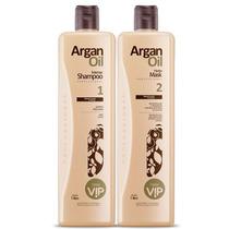 New Vip Kit Escova Progressiva Argan Oil 2x1000ml