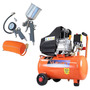 Compressor Ar Portátil 2,5hp 110v Vc-25 + Kit Pintura 54686