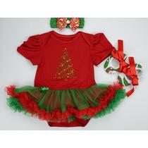 Body Saia De Natal Bebê 3pcs.vestido Fashion Frete Grátis!
