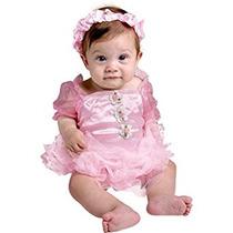 Disfraz Para Niña Bebé Recién Nacido Rosado De La Princesa