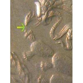 Moneda Antigua 10 Centavos 1936 Unc Variante Vibora Decapita