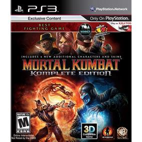 Mortal Kombat 9 Ps3 Digital Komplete Edition | Tenelo Hoy