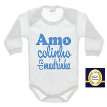 Body Bebe Madrinha Dinda Titia Beijos Frases Colinho Menino