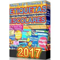 Kit Imprimible Etiquetas Escolares 100% Editables 2017 Nuevo