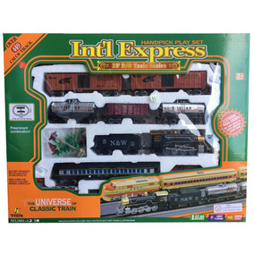 Tren Locomotora Fenfa Pila 7 Vagones Esc 1:87 160440 Smile