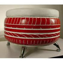 Taburete Sillon/ Puff Llanta Reciclada Color Personalizable