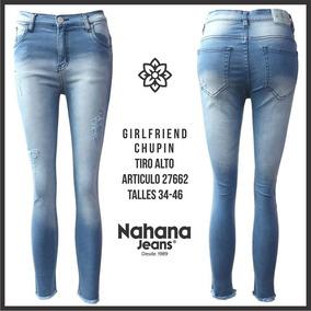 Jeans Elastizado Chupin Marca Nahana Talle 42