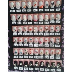 Kit 50 Cartelas Adesivos Artesanais Unha R$60,00.