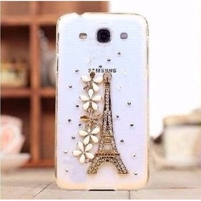 Capa Case Galaxy Grand Duos Prime Flor Strass Torre Eiffel