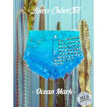 Shorts Jean Colores Tachas