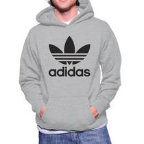 Moletom Adidas Masculino Casaco Canguru Blusa Frio Moleton