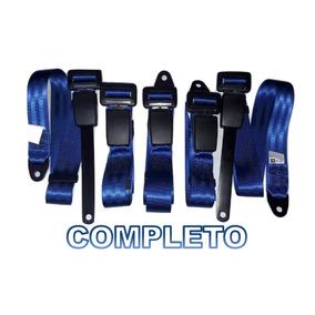 Kit Cinto Segurança Fusca/brasilia/variant Completo Azul