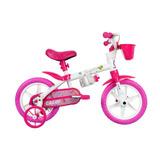 Bicicleta Caloi Cecizinha Aro 12 Feminina Rosa E Branco