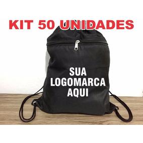 Kit 50 Mochilas Personalizadas De Tactel - Bolsa Pintada