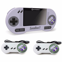 Supaboy S Con 2 Controles De Snes Consola Portatil Hyperkin
