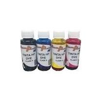 Tinta Dye Para Impresora Hp 100 Ml Los 4 Colores Clase A