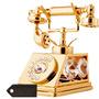 El Oro 24k Plateó El Teléfono Viejo Tachonado + Envio Gratis