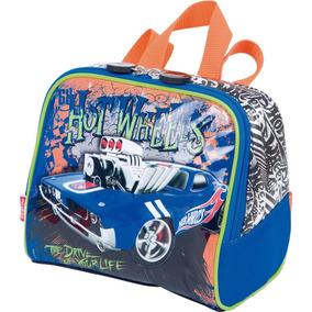 Lancheira Infantil Escolar Menino Carro Hot Wheels 16z 64150
