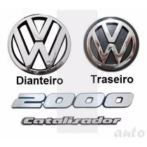 Kit Emblemas Gol Quadrado Gti Catalisador - Até 1994