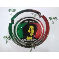 Ceniceros Vidrio Cristal Redondo Bob Marley - Olivos Grow