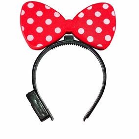 10 Diadema De Mimi Con Luz Fiestas Luminosa Orejas Mickey