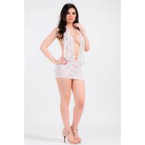 Vestido-mini De Encaje-blanco Escote Marylin Sexy!!