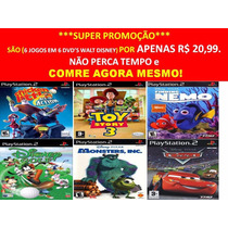 Toy Story 3 Para Playstation 2 (kit 6 Jogos Ps2 Infantil
