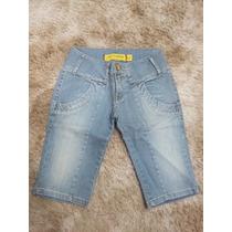 Bermuda Jeans Lado Avesso Tamanho 40