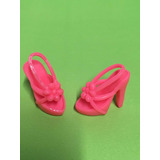 Sapato Sapatinho Boneca Barbie Rosa Pink Salto Alto Sandalia