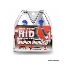 Lâmpadas Super Brancas H4 8500k Efeito Xênon (par)