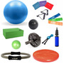 Kit Yoga Pilates C/ 16 Itens Bola, Thera Bands Overball Anel