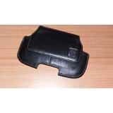 Estuche De Cuero Con Clip Horizontal Blackberry Original