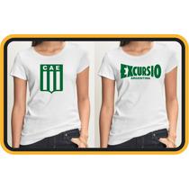 Musculosas Y Remeras Modal Mujer,club Excursionistas,villero