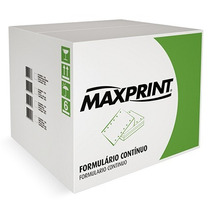 Formulário Contínuo 1 Via 80 Colunas 3000fl - Maxprint