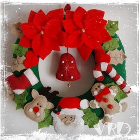 Coronas navide as decoraci n navide a en mercado libre for Decoracion navidena artesanal